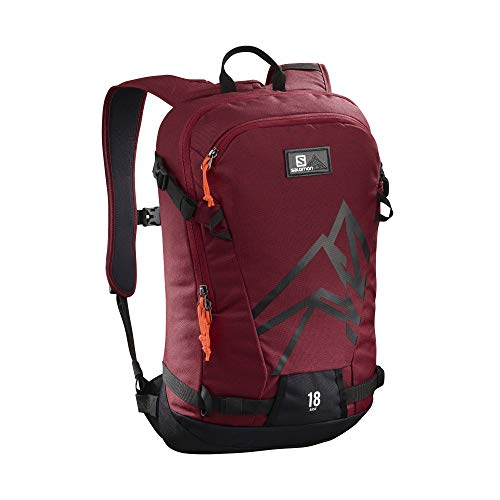 Red Salomon 18 Biking Side Lightweight Skiing Backpack Black rYwxYzFq5
