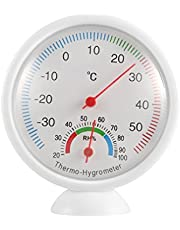 POO WS-A1 Indoor Outdoor Thermometer Hygrometer Draagbare Plastic Thermohygrometer wit