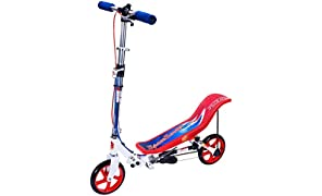 SpaceScooter Ride On, Red/White/Blue