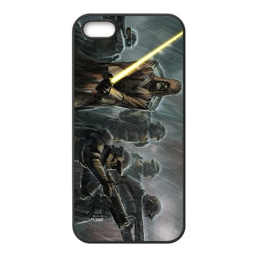 Star Wars The Old Republic 12 coque iPhone 4 4s cellulaire cas coque de téléphone cas téléphone cellulaire noir couvercle EEECBCAAN00445