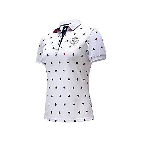Kayiyasu シャツ レディース ゴルフウェア 半袖 Tシャツ スポーツ POLOシャツ 女性用 ポロシャツ 2018 春 夏 021-xsty-yf075(L ネイビー)