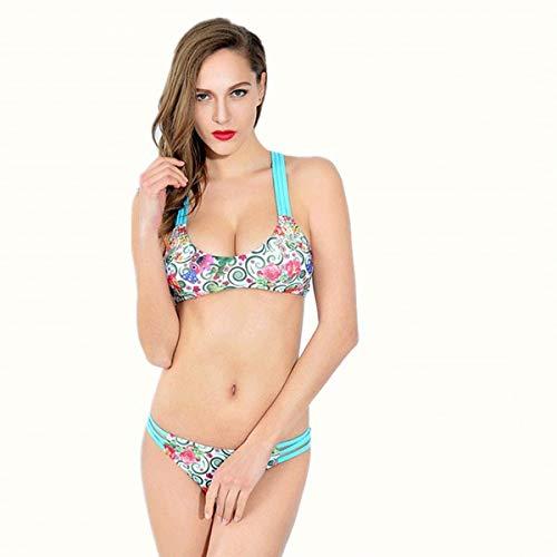 Les coloré P Ms unis Taille Etats Bikini split Triangle floral Bikini L'europe Et Zhrui gwqaBcFfRU