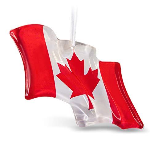Hallmark Keepsake Keepsake 2019 Canadian Pride Flag Glass Canada ()