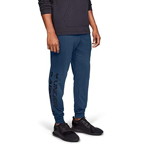 Under Armour Sportstyle Cotton Graphic Jogger, Petrol Blue//Black, Medium