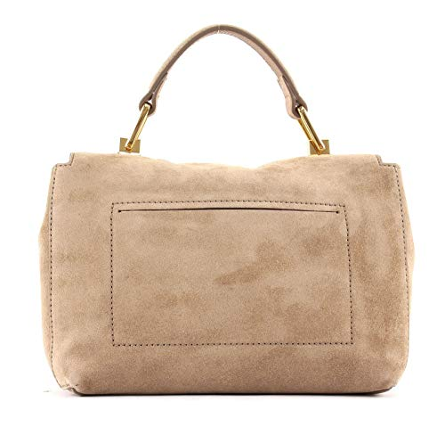 Small Coccinelle Suede Handbag Desert Liya KT1lcF3J