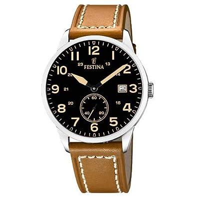 23d33f1b784 Relógio Festina Masculino Couro Marrom - F20347 6  Amazon.com.br ...