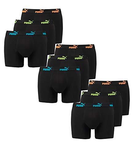 Puma 9 er Pack Boxer Boxershorts Herren Unterwäsche Sportliche Retro Pants