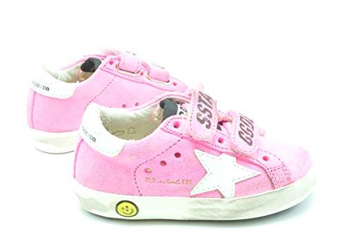 Star Superstar Old Suede Golden Kids Sneakers Goose Pink G30KS021 B3 School White 7wxzRqIx
