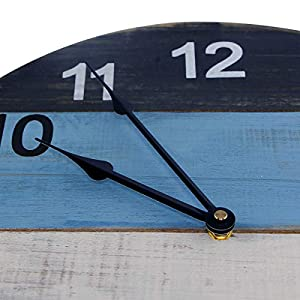 Reloj de pared de madera de 40 cm, retro, silencioso, redondo, con movimiento de cuarzo silencioso para sala de estar, cocina, dormitorio, cafetería, decoración, habitación de los niños, regalo