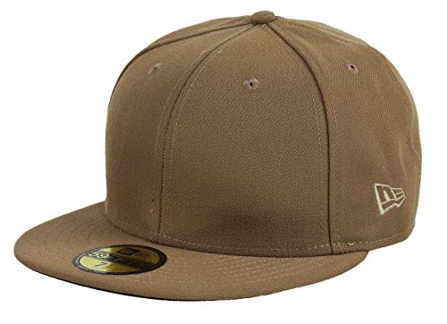 New Era 59fifty Basecap Blank Dark Beige - 7 5/8-61cm