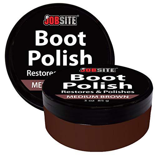 mium Leather Boot & Shoe Polish Cream - Restores, Conditions & Polishes Leather & Vinyl Boots, Shoes, Car Auto Interior, Jackets & Purses - Medium Brown - 3 oz ()