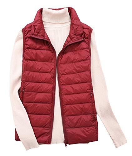 恵みモロニックスケジュールYAXINHE 女性パフアウトウェア冬超軽量重量ジャケットダウンベスト