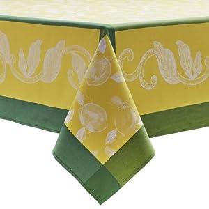 Sur La Table Citrus Jacquard Tablecloth LEMON SLT , 70