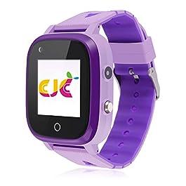 4G Kids Smart Watch,Kids Phone Smartwatch w GPS Tracker,Waterproof,Alarm,Pedometer,Camera,SOS,Touch Screen WiFi…