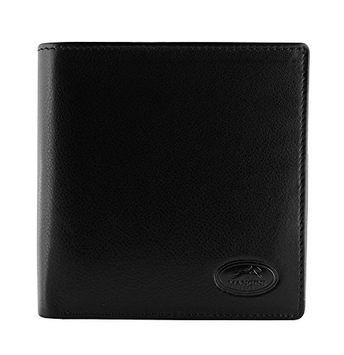 Mancini Leather Goods Manchester Collection: Men's RFID Center Wing -