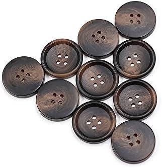 10 piezas Cuerno de resina botones cierres de traje de ...