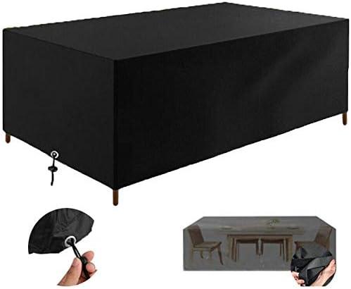 Oferta amazon: Fundas Muebles Jardín, Impermeable Cubierta de Exterior Funda Patio Protectora Muebles 210D Oxford Resistente al Polvo Anti-UV para Sofa de Jardin, al Aire Libre, Mesa y Sillas (200x160x70cm)