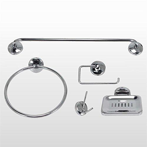 Kit Acessórios Jackwal para Banheiro 5 Peças Smart Standard Cromado 6301