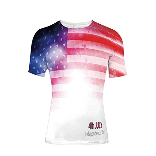 T-Shirt Short Sleeves,Background with Stars and Stripes Famous Country,Mens Cool 3D (Famous Stars Stripes Shirts)