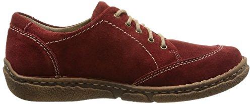 Josef 02 Derby Rot Zapatos Mujer de Rojo Seibel para Carmin Cordones 388 Neele 46rTqSw4