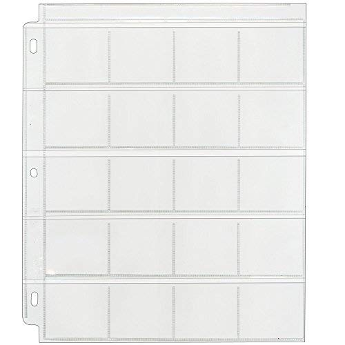 Clear File - Coin & Slide Page for 3-Ring Binders - Poly Archival-Safe Plastic - 100-Pack - 210100B - 21B by Clear File