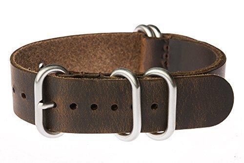 OhFlash Vintage Leather Militaty Stainless