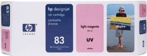 Ink 5500ps Uv (HP 83 C4945A UV Ink Cartridge for DesignJet 5000 series, 680ml, Light Magenta)