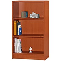 Hodedah 3 Shelve Bookcase, Cherry