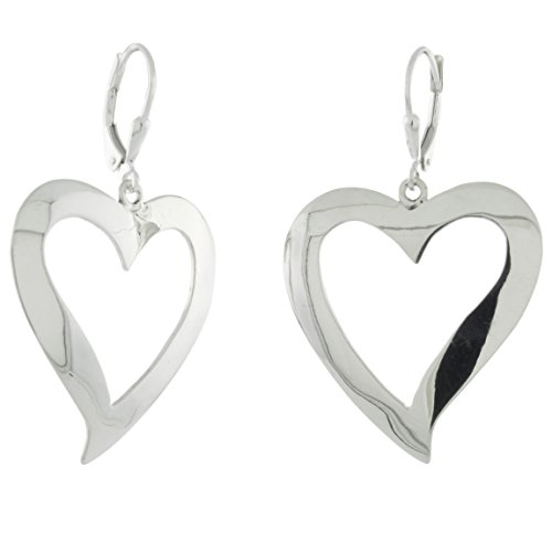 Sterling Silver Handmade Cut-out Leverback Earrings, -