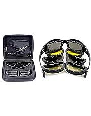 Daisy C5 Military Goggles 4 Lenses Outdoor Sports Hunting Polarized Sunglasses