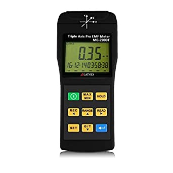 fbeedbcf391 EMI Magnetic field gauss Meter detector MG-2000T Triple Axis Professional  use with Datalogger EMI