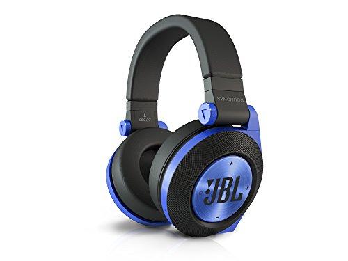 JBL E50 BT Wireless Bluetooth Over-Ear Stereo-Kopfhörer (Aufladbar, Superweichem Ohrpolster Integrierter Fernbedienung/Mikrofonsteuerung, Kompatibel mit Apple iOS und Android Geräten) blau