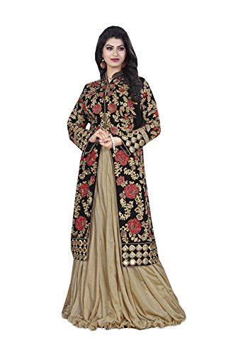 IWS Indian Women Designer Wedding beige Lehenga Choli K-4529-39515