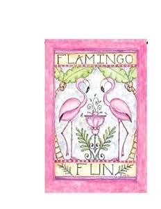"""Flamingo Fun Garden Flag 13""""x 18.5"""""""