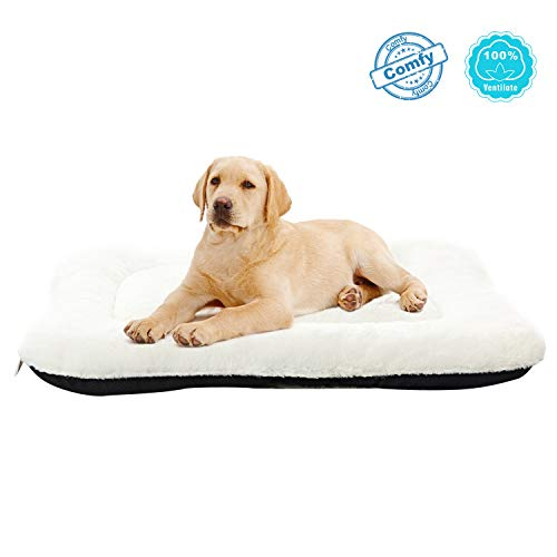 - ANWA Dog Bed Pet Cushion Crate Bed Soft Pad Washable Kennel Bed 24/30/36/40 INCH