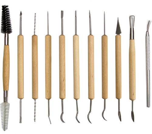 SE 4PT11 11-Piece Pottery Tool, Outdoor Stuffs