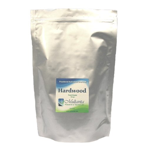 10 oz Hardwood Activated Charcoal Powder Premium Food Grade USA in Mylar Bag