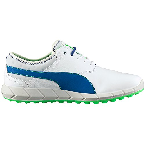 PUMA Men's Ignite Spikeless Golf Shoe White/Surf The Web/G 11.5 M US