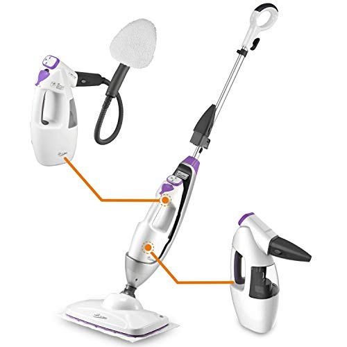 LIGHT 'N' EASY Steam Mop, Detachable Handheld Steam Cleaner, Multi-functional All-in-One Floor Steamer for Laminate/Hardwood Floor/Tiles/Grout/Carpet, S3601 (Best All In One Vacuum And Mop)