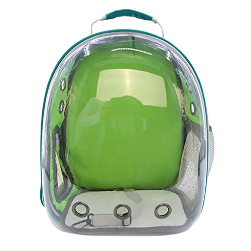Islandse New Portable Pet Cat Dog Travel Carrier Backpack Space Capsule Breathable Bag (Green)