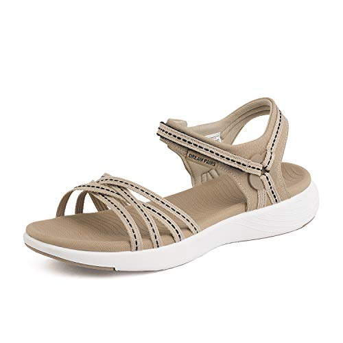 Dream Pools - DREAM PAIRS Womens Athletic Sports Sandals Lightweight Hiking Sandals Beige Size 5.5 M US 181102