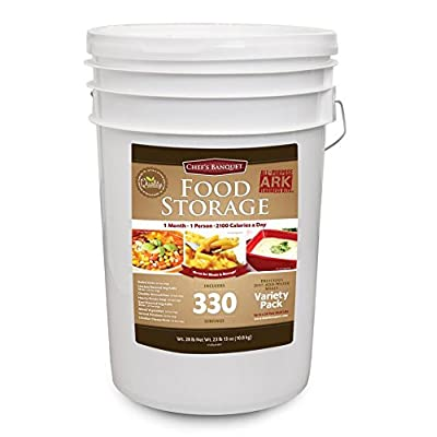 Image of Home and Kitchen Chef's Banquet 30 Day (330 Servings) Emergency Food Supply / Food Storage Kit