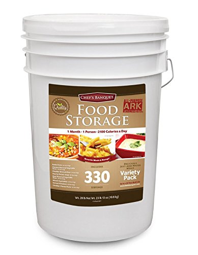 Chef's Banquet All-purpose Readiness Kit 1 Month Food Storage Supply (330 Servings) (Long Term Storage Food compare prices)