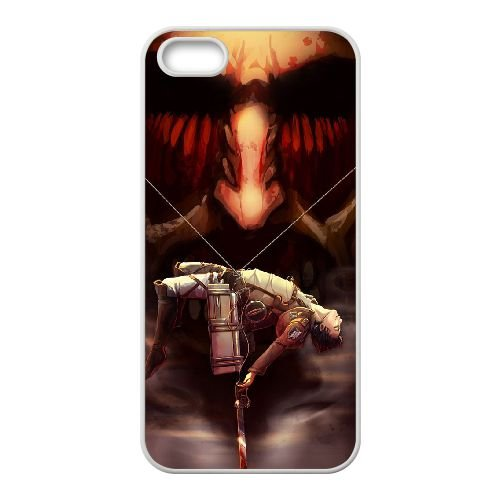 Attack On Titan coque iPhone 4 4S Housse Blanc téléphone portable couverture de cas coque EBDOBCKCO14073