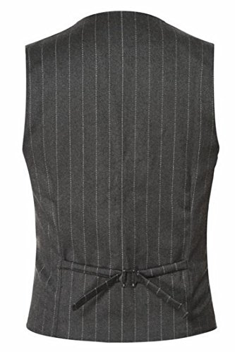 Blazer Jacket Stripe V Vest Mens UK Neck Grey Waistcoat today fZnFw67qxW