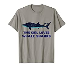 Whale Shark Graphic T Shirt for Girl Who Loves Whale Sharks by Shark Lovers Gear by Dancing Tree Apparel Company. This is the tee shirt for any girl, gal, lady or woman who loves whale sharks, whether she's a toddler, a big kid or an adult. B...