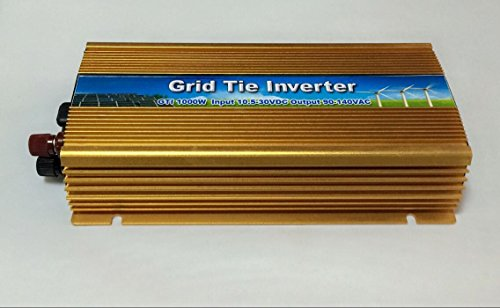 BBGS 1000w Micro Solar Grid Tie Inverter DC20-45V to AC110V with Pure Sine Wave Gold Color (DC22-45V)