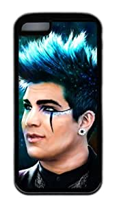 MEIMEIAdam Lambert Customized Rubber Material DIYl Case Cover Black Skin for iphone 6 4.7 inchMEIMEI