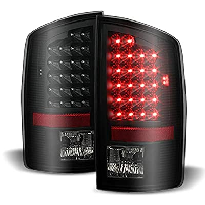 ACANII - For Blk Smoked 2002-2006 Dodge Ram 1500 LED Tail Lights Lamps Left+Right Aftermarket