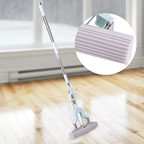 Cleaning Brush Stainless Steel Telescopic Handle Absorbent Sponge Mop Home Floor Cleaning Tool